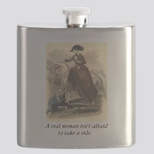 A real woman - sidesaddle Flask