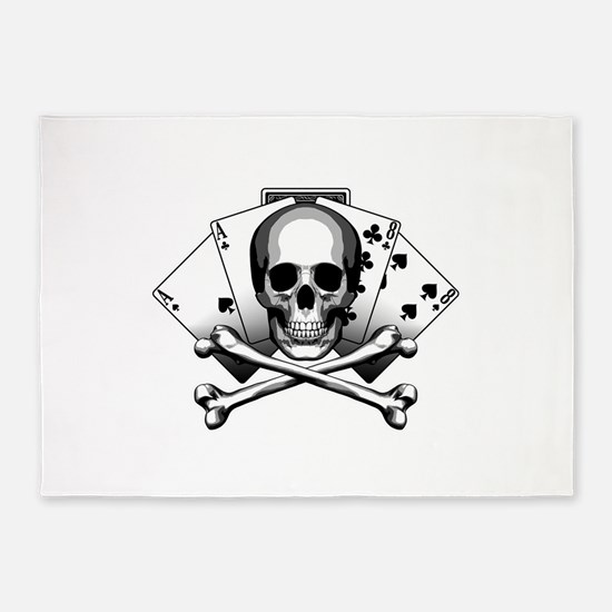Dead Mans Hand: Aces and Eights 5'x7'Area Rug