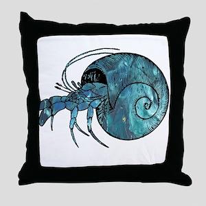 Hermit Crab Throw Pillow