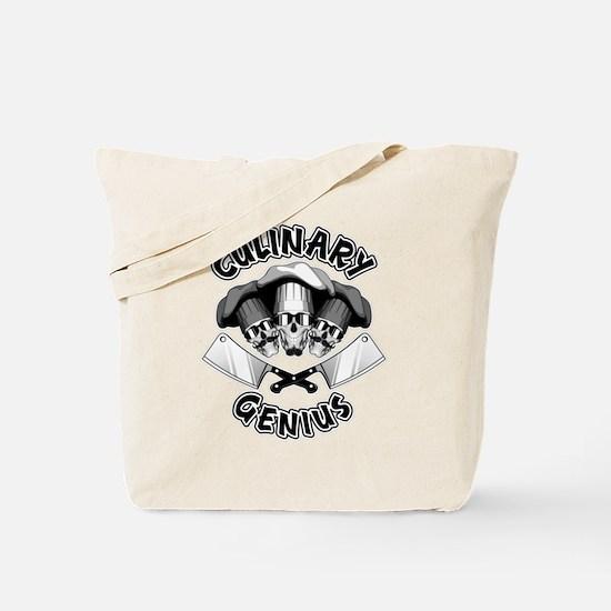 Culinary Genius Skulls Tote Bag