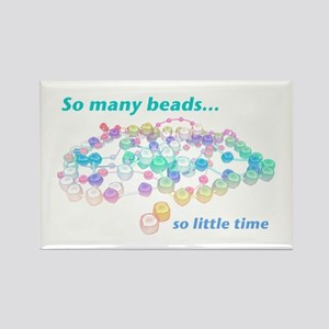 So Many Beads Rectangle Magnet