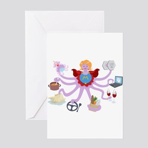 Super Mom Greeting Cards