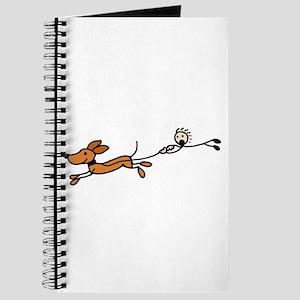 Funny Dog Walking Cartoon Journal