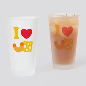 I Heart Mac And Cheese Drinking Glass