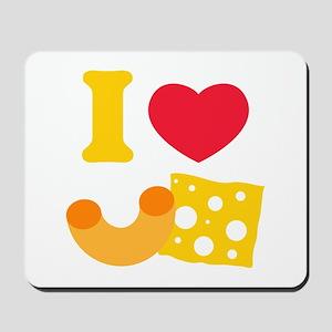 I Heart Mac And Cheese Mousepad