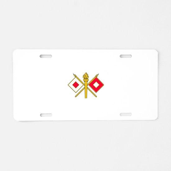 Signal Corps Aluminum License Plate