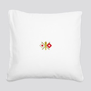 Signal Corps Square Canvas Pillow