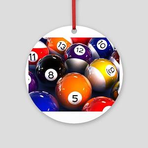 Billiard Balls Round Ornament