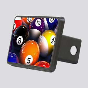 Billiard Balls Rectangular Hitch Cover