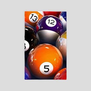 Billiard Balls Area Rug