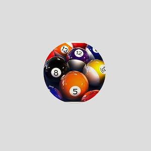 Billiard Balls Mini Button