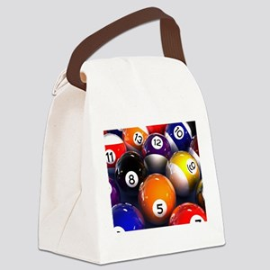 Billiard Balls Canvas Lunch Bag