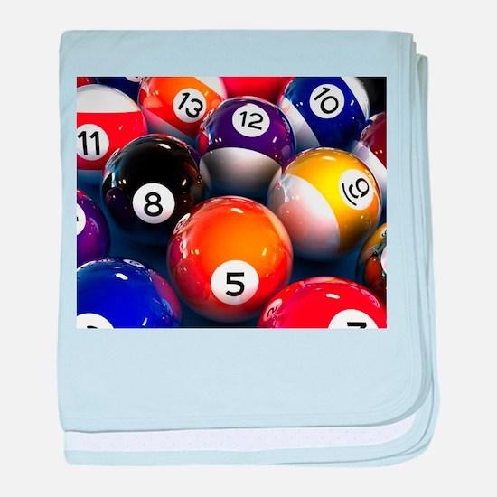 Billiard Balls baby blanket