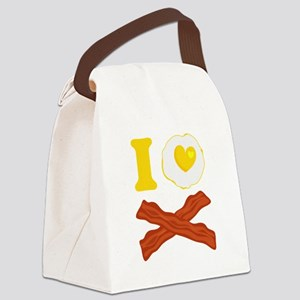 I Love Bacon And Eggs Canvas Lunch Bag