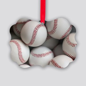 Baseball Balls Picture Ornament