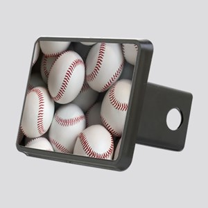 Baseball Balls Rectangular Hitch Cover