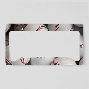 Baseball Balls License Plate Holder