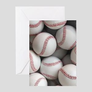 Baseball Balls Greeting Cards