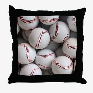Baseball Balls Throw Pillow