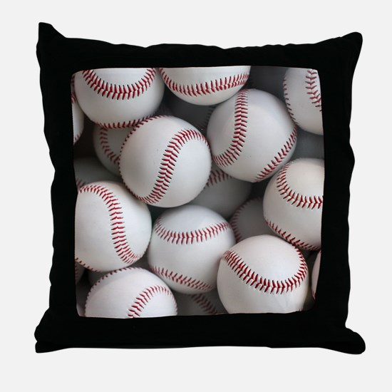 Baseball Balls Throw Pillow