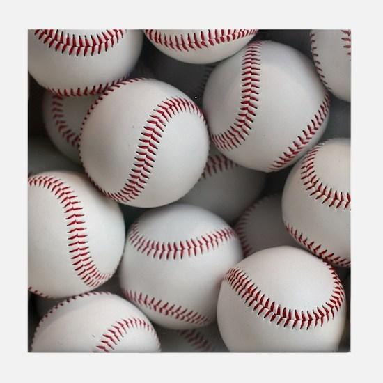 Baseball Balls Tile Coaster