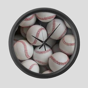 Baseball Balls Large Wall Clock