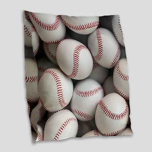 Baseball Balls Burlap Throw Pillow