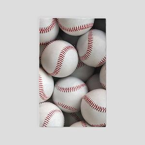 Baseball Balls Area Rug