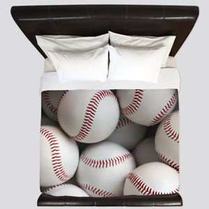 Baseball Balls King Duvet