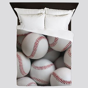 Baseball Balls Queen Duvet