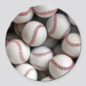 Baseball Balls Round Car Magnet