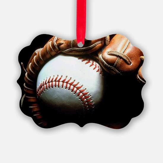 Baseball Ball And Mitt Ornament