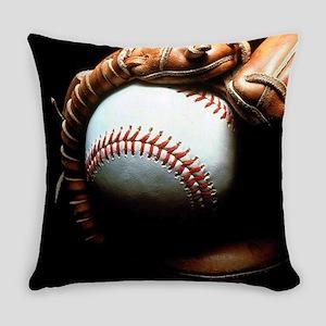 Baseball Ball And Mitt Everyday Pillow