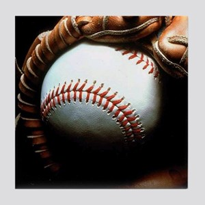 Baseball Ball And Mitt Tile Coaster