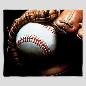 Baseball Ball And Mitt King Duvet