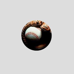 Baseball Ball And Mitt Mini Button