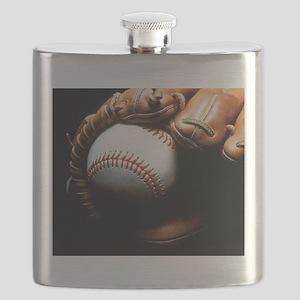 Baseball Ball And Mitt Flask
