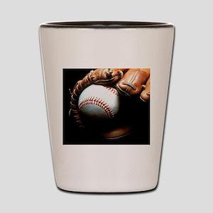 Baseball Ball And Mitt Shot Glass