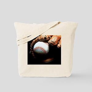 Baseball Ball And Mitt Tote Bag