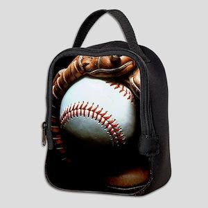 Baseball Ball And Mitt Neoprene Lunch Bag
