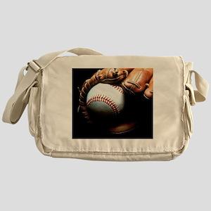 Baseball Ball And Mitt Messenger Bag