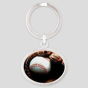 Baseball Ball And Mitt Keychains