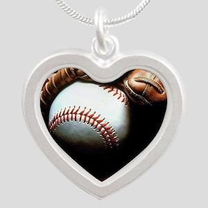 Baseball Ball And Mitt Necklaces