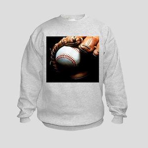Baseball Ball And Mitt Sweatshirt