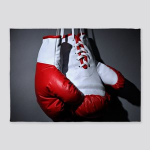 Boxing Gloves 5'x7'Area Rug