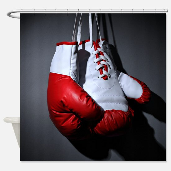 Boxing Gloves Shower Curtain
