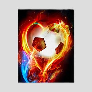 Flaming Football Ball Twin Duvet