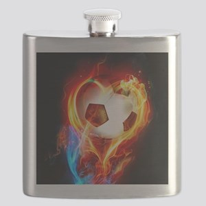 Flaming Football Ball Flask