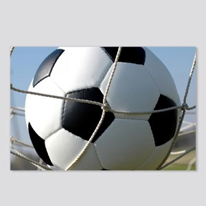 Football Ball In Net Postcards (Package of 8)