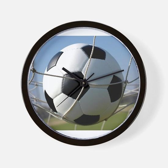 Football Ball In Net Wall Clock